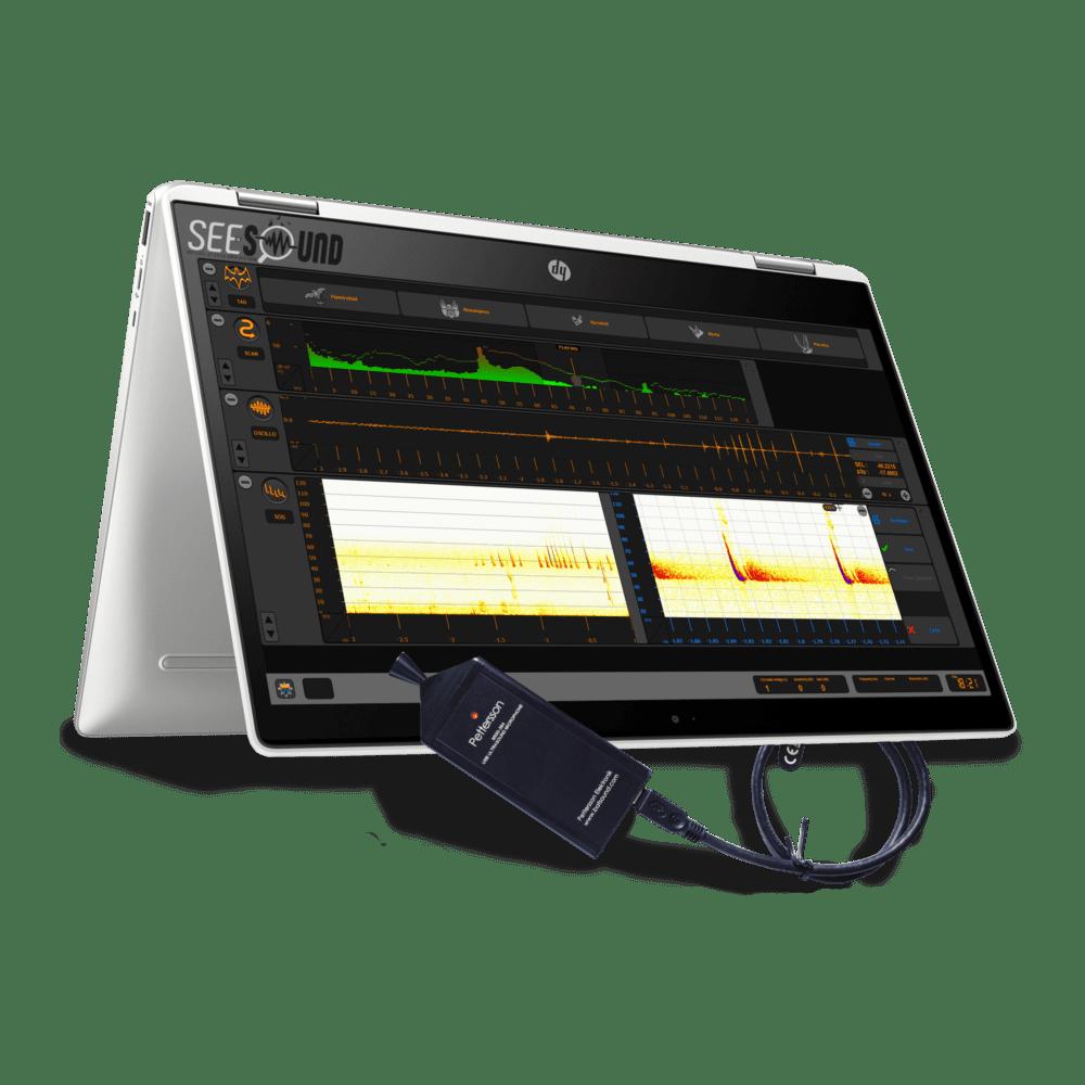 Soundchaser pro Cyberio Tablette MICROPHONE À ULTRASONS PETTERSSON M500-384 USB logiciel identification son Pettersson D240x Hétérodyne Expansion de temps Chiroptères Chauves souris enregistreur