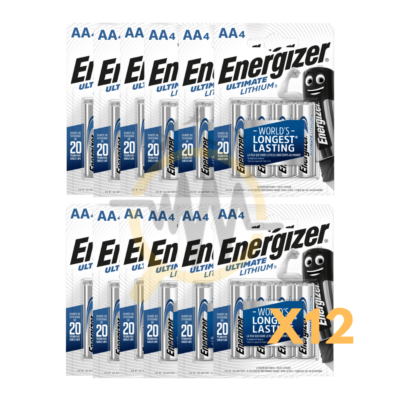 Pack lot blister 4 piles energizer ultimate lithium AA L91 Varta lithium professionnal AAA piège photographique piège photo