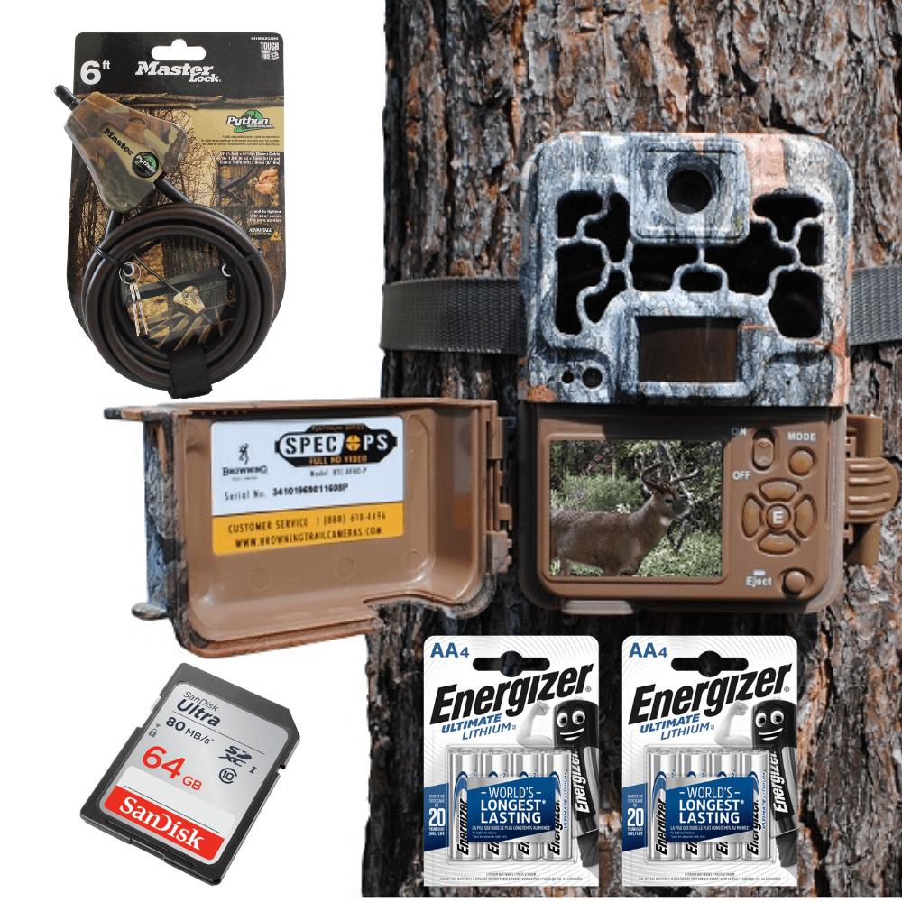 Pack pièege photographique complet Browning spec ops advantage carte sd sandisk 64 giga